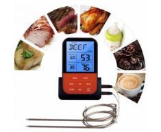 Numérique sans fil Bbq thermomètre à viande Accessoires Griller Outils de cuisine de cuisine_onaeatza561 - Équipements électriques domotique