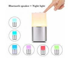 Veilleuse Haut-parleur Bluetooth, capteur lampe LED nuit Lampe de table Dimmable - Enceinte intelligente