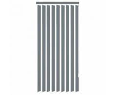 vidaXL Store vertical 120 x 250 cm Tissu Gris - Fenêtres et volets