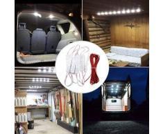 Lampe Intérieur Auto 30 LEDs Plafonnier Véhicule de Chantier, Camion, Camping Car,Caravane DC 12V - Bandeaux et réglettes à LEDs 12 V