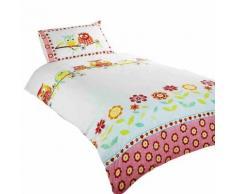 Parure de lit simple à motif hibou (Lit enfant) (Multicolore) - UTSG6974 - Linge de lit