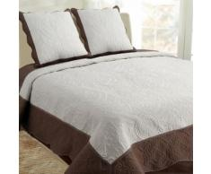 Couvre-Lit 230X250cm + 2 Taies 60X60cm Couleur Naturel/Sandy 100pourcentcoton - Linge de lit