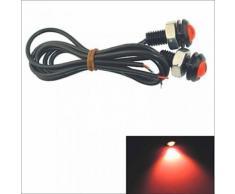 Lampe à Led SMD, Feu Anti-Brouillard, Phare de jour, Eclairage plaque d'immatriculation, Couleur de lumière Rouge, Puissance 1.5W, - Ampoules à LEDs