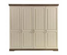 Armoire 4 portes battantes - TIVA - Armoire