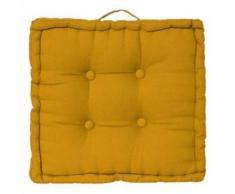 Paris Prix - Coussin De Sol dorian 40x40cm Ocre - Textile séjour