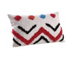 Coussin rectangulaire en coton tufté - Textile séjour