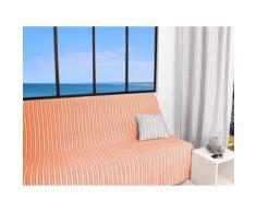 Jeté de canapé 170x250 cm COTONADE corail - Textile séjour