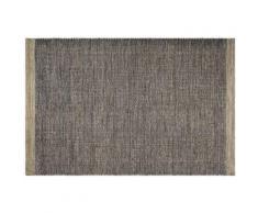 Fabhabitat - Tapis intérieur extérieur Kingscote noir et beige 180 x 120 cm - Tapis et paillasson