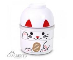 CasaBento - Boîte à Bento Kokeshi Chat Maneki Neko Blanc - Conservation
