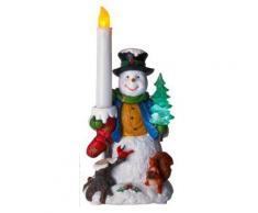 star 990-72 bonhomme de neige avec bougie led à piles décoration de table 24 x 12 cm - Appliques et spots