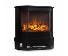 Klarstein Castillo Cheminée électrique / poêle à bois - Simulation Flammes - Chauffage 1000W / 2000W - Eclairage halogène - Pour 40 m² - Noire - Chauffage et ventilation