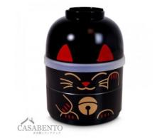 CasaBento - Boîte à Bento Kokeshi Chat Maneki Neko Noir - Conservation