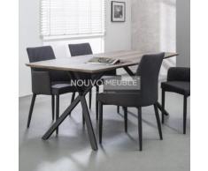 Table à manger moderne couleur bois NINE - 190 cm - Tables salle à manger