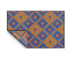 Fabhabitat - Tapis intérieur extérieur Saman orange et bleu 270 x 180 cm 270 x 180 cm - Tapis et paillasson