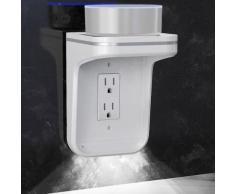 Prise murale étagère d'alimentation de charge Shelf LED de sortie Couvercle pour le domicile Google_onaeatza116 - Équipements électriques domotique