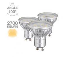 Lot de 3 spots 280 lumens 4.5W équivalent à 25W - Appliques et spots