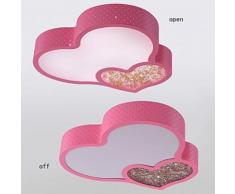 Plafonnier LED forme Coeur pour Chambre d'enfant Rose - Suspensions et plafonniers
