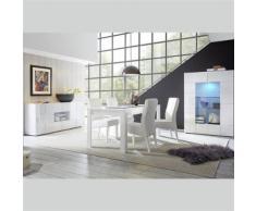 Nouvomeuble - Salle à manger design blanc laqué sandrea - Tables salle à manger