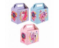 1 Lunch Box Petit Poney Carton Boite A Gouter D Enfant 14 X 9.5 X 12 Cm Anniversaire Fete - Autres