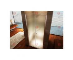 Porte de douche 185 cm largeur réglable 136-140 cm Dépoli-opaque - Installations salles de bain