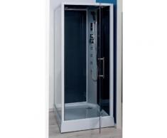 Aqua+ - cabine de douche accès de face transparent porte pivotante 90x90cm avec radio fm - niky - Installations salles de bain