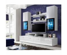 paris prix - meuble tv mural design 'mini' 200cm blancparis prix - meuble tv mural design 'mini' 200cm blanc - autres