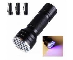 3PC 21 LED 395 nm UV Ultra Violet Blacklight lampe de poche pour CSI inspection de la lumière - Torches