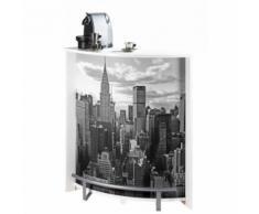 Meuble Comptoir, Meuble Bar, Blanc New York - Tables bar