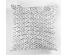 Paris prix - coussin déco 'optic' 60x60cm blanc - Textile séjour