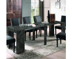 Meuble console extensible 250 cm gris foncé design URBAN - L 78,5 x P 252 x H 78 cm - Tables salle à manger