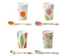 Table Passion - Coffret De 4 Gobelets + Cuilleres Bali - Verrerie