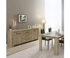 Nouvomeuble - Salle à manger contemporaine couleur bois clair alena - Tables salle à manger