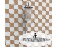 Homdox Pommeau de douche ronde acier inoxydable 20cm - Accessoires salles de bain et WC