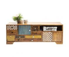Meuble TV en bois Soleil 3 portes 9 tiroirs Kare Design - Objet à poser