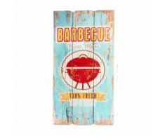 Plaque en bois déco 60 cm - Barbecue - Décoration murale