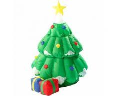 Sapin de Noël autogonflant animé, 155 cm - Objet à poser