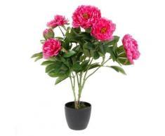 Fleurs artificielles - Pivoines roses - Plante artificielle très réaliste - Objet à poser