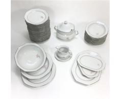 Service de table Vaisselle en porcelaine de Bavière pour 12 personnes 44 pièces - vaisselle