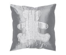 housse coussin zip 40 x 40 cm lulu castagnette ours - Linge de lit