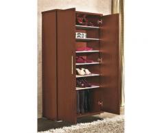 Armoire à chaussures avec 6 étagère Cerise( Livré en Kit ) -PEGANE- - Meubles à chaussures