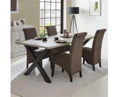 Table à manger contemporaine couleur bois MEREDITH - Tables salle à manger