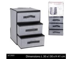 commode etagere armoire 3 tiroirs tissu penderie salle de bain coffre - Accessoires salles de bain et WC