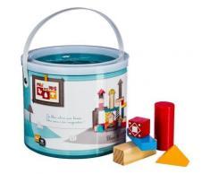 Baril de jouets en bois - 40 pièces - Jouets pour enfants - Objet à poser