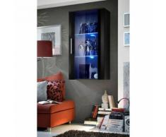 Paris prix - vitrine led murale design 'neo' 110cm noir brillant - Vaisseliers