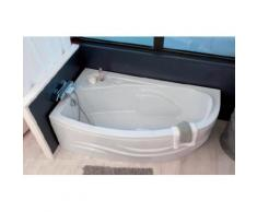 Aqua+ - baignoire acrylique angle gauche 160x90 cm 200l - fany - Installations salles de bain