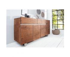 Chloé Design - Enfilade design AKAZIO - bois foncé - Buffets