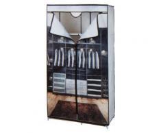 Penderie tissus imprimé - 88 x 45 x 160 cm - Rideaux et stores