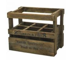Lots de 5 Casier Caisse Cageot à Bouteilles en Bois 36.50 cm x 23 cm x 29 cm - Boite de rangement