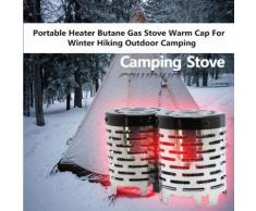 Chauffage Mini Camping Portable en acier inoxydable Cap Cuisinière à gaz chaud couvercle du brûleur - Packs machines outils
