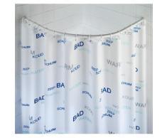 Barre de douche ronde blanche - blanc - Accessoires de rangement